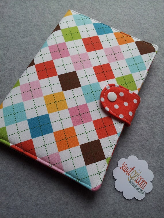 Google Nexus 7 cover, Ipad Mini, Kindle Paperwhite cover, Nook HD, eReader Cover,  Argyle