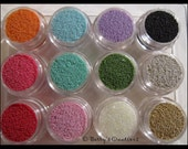 Caviar Micro Beads for Nail Art. Assorted Colors. Whole Sale 12 Piece Set