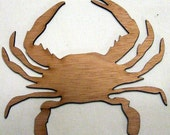 Crab (Medium) Wood Cut Out - Laser Cut
