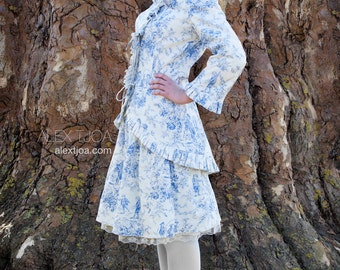 Jacket and skirt Bohème from Blue Toile de Jouy
