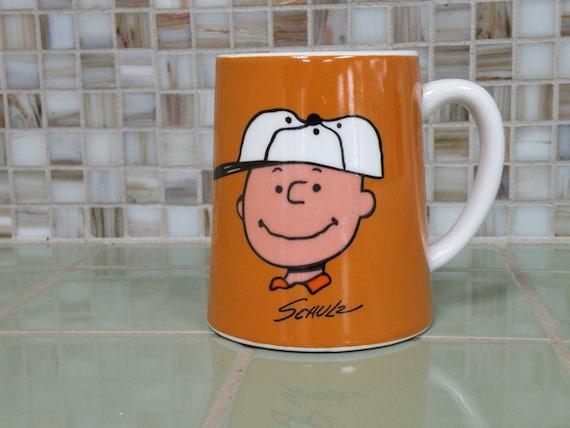 Charlie Brown Vintage Ceramic Coffee Mug // Peanuts 70s / Cartoon Kitchen Ceramic Cup