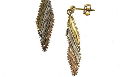 Vintage Sterling & Rose Gold Vermeil Mix and Match Dangle Earrings, 1980s