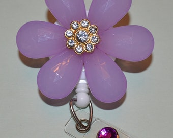 Purple Flower Badge Cover