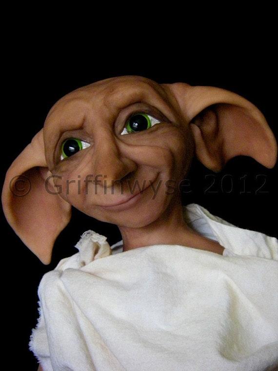 House Elf, OOAK Art Doll, Jointed Doll -  Custom order