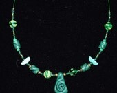 NECKLACE  CERAMICS GLASS Beads Green Green is in Eco Friendly  Sportive Fresh Young  Harmonious  Tribal Special  Contemporary Delicate