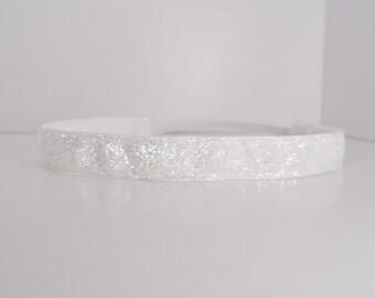 Glitter Headband - White Headband - Sparkle Headband - Non Slip Headband - Running Headband - Sports Headband - Fitness Headband - Team Gift