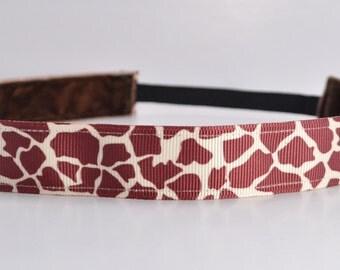 Giraffe Print Headband | Animal Print Headband | Running Headband | Fitness Headband | No Slip Headband | Athletic Headbands