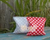 Cornhole Bags - Full Set (8 bags) // Polka Dot Pattern