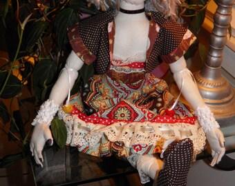 SALE Art Doll Cloth/Fabric Handmade OOAK