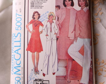 Vintage Sewing Pattern -  1976 Jacket, Blouse, Skirt, Pants and Scarf McCall's Pattern 5007 - Uncut - Leisure suit