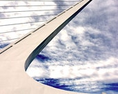 Sundial Bridge, bold, architecture photography, California - Pointing Skyward 8x10 fine art photograph