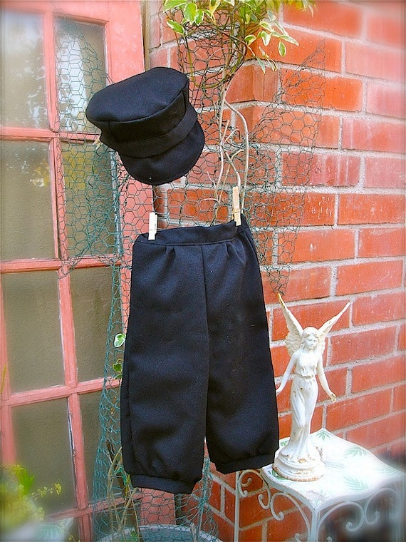RESERVED for Palmer  little boys black knicker pants, and Hat , vest and bow tie (size 3-5 years)