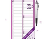FridgePads Complete Shopping List Notepad with magnetic back & magnetic pen