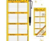 PALEO SERIES Grocery List Magnetic Paper Notepad: Hang it on your fridge
