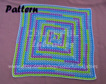 Baby blanket crochet pattern. Math crochet pattern. Crochet baby blanket with numbers. MAGIC: English and Spanish patterns for babies
