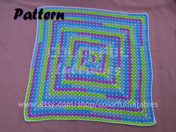 Baby blanket crochet pattern. Math crochet pattern. Crochet