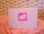 Set of 10 Stamped Baby Girl Thank You Cards