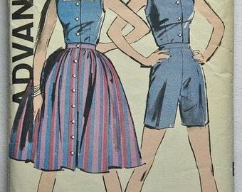 "DISCOUNTED** 1960's Advance Blouse, Skirt and Shorts Pattern - Bust 32"" - No. 9681"