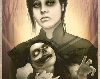 Mother - zombie concept art fine art print LARGE - featured on IMAGINE FX Issue 91