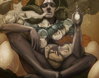 YO MAMMA - concept art fine art print LARGE