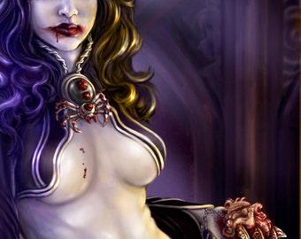 Bloodlust - concept art fine art print LARGE