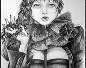 Claudine Print in Black and White