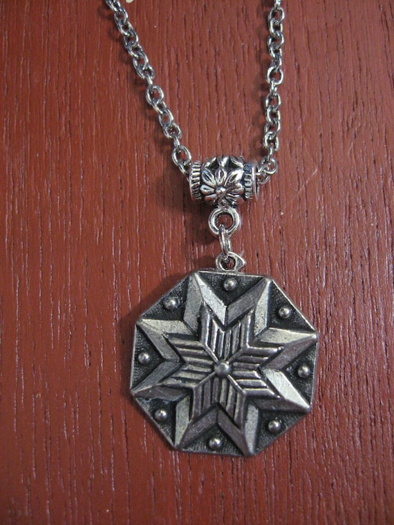Pewter Button Necklace from Norway Hardanger