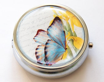 Butterfly, Pill Box, Pill Case, Pill Container, Bird, Gift for her, gift for mom, Candy container, mint case (634)