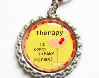 Funny zipper pull, Drink charm, zipper pull, purse charm, bottle cap, backpack charm, Drinks, humor, yellow