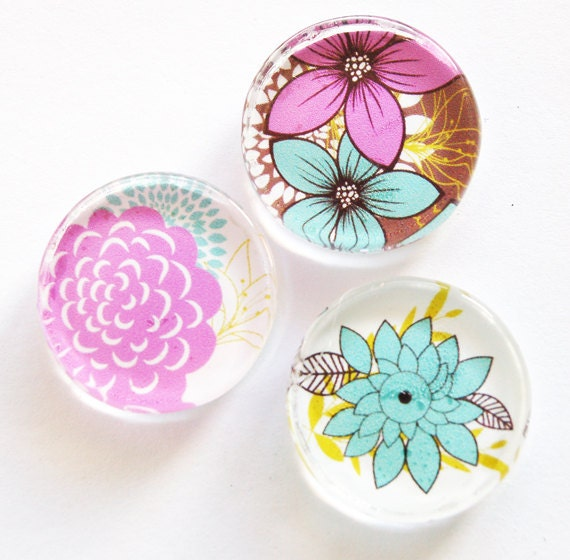 Mangets, Flower Glass Magnets, Glass magnets, Fridge Magnets, Organization, Kitchen Magnets