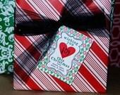 Wishing You Joy this Christmas tag or sticker. DIY Printable Christmas or Holiday Gift tags. Personalized Christmas Printables.