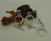 Toggle Clasps Silver-Plated Pewter - 3 sets