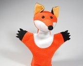 Animal hand puppet for children - fox Kamilla