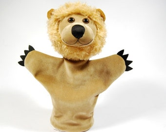 Animal hand puppet for children - Lion. Role playing hand puppet for children
