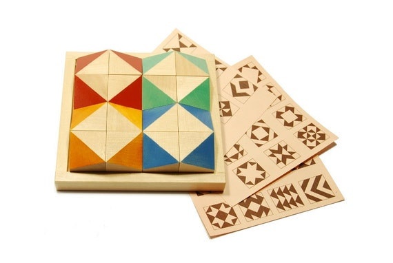 Dimensional wooden puzzle -A play with a shadow - colored version ( age 6 - 9 )