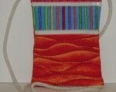 Wallet on a String Cross Body Bag Purse Cotton Colorful Zipper Pockets