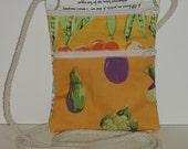 Wallet on a String Cross Body Bag Purse Colorful Fun Cotton Zipper Pockets