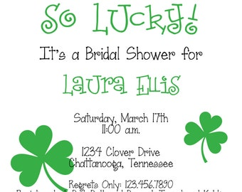 so lucky st. patty's day invitation
