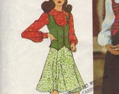 Simplicity 5297 sewing pattern // skirt vest blouse