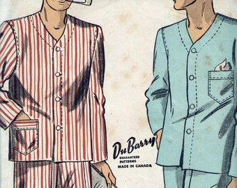 1940s DuBarry 5903 sewing pattern // men's pajamas