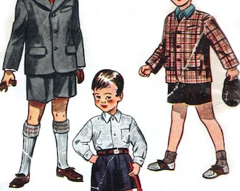 1940s 1950s Simplicity 3115 sewing pattern // Boys' Suit and Cap
