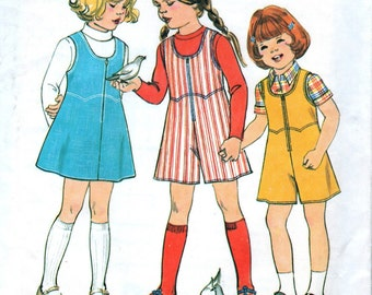 1970s Simplicity 8130 sewing pattern // Child's Jiffy Jumper and Culotte Jumper