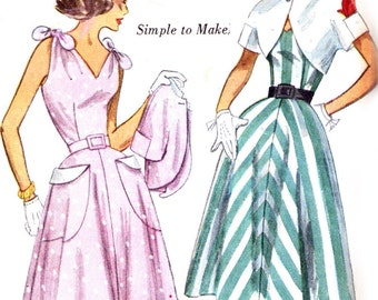 Simplicity 3562 sewing pattern // One Piece Dress and Bolero ''Simple to Make''