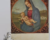 Raphael. Madonna Conestabile. Russian religious art postcard.