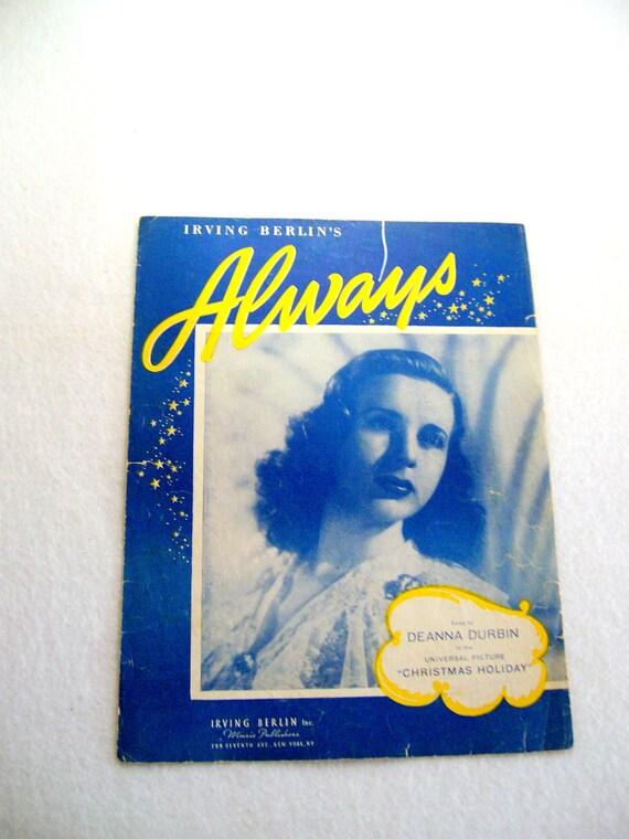 "Sheet Music ""Always""  by Irving Berlin  1925"