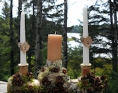birch  wedding unity log  Unity candle holder  Birch wood Log natural White Birch or Pine breathtaking forest wedding design  -