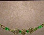 2 Chokers in Shades of Green--Each has it's Own Personality--Sold Separately--Free Shipping in US
