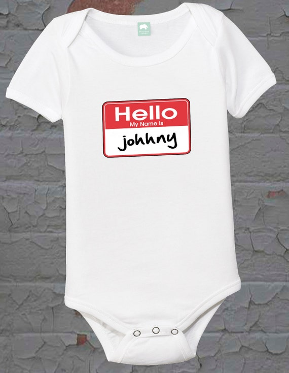 Nametag Shirt Infant Name Tag Tee Boys One Piece Funny Newborn Girls T Shirt Creeper Sizes 6 12 18 24 Month 2t 3t 4t