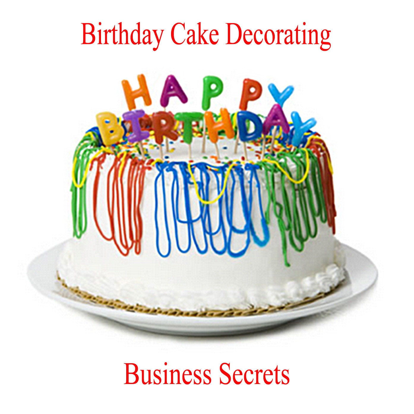 Birthday Cake Decorate Your Own  Image Inspiration Of Cake And - Cake decorating birthday
