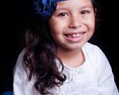 July 4th Headband, Baby Girl Headbands, Blue Flower Headband, Newborn Headband, Baby Girl Hair Accessories, Headbands